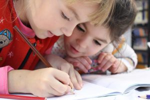 子供勉強中